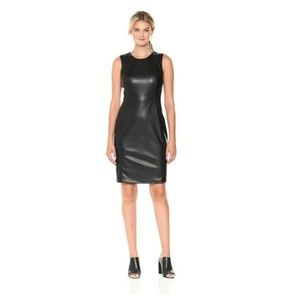 Express Faux Leather Sheath Mini Dress MP